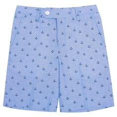 Wd·ny Boys' Anchor Print Shorts - Academy Blue 10