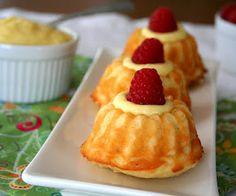 Mini Lemon Bundt Cakes with Lemon Curd Filling (Low Carb and Gluten-Free)