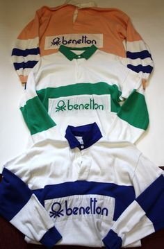 Bennetton long-sleeved polo shirts, high fashion in the mid-1980s. I had the blue one.