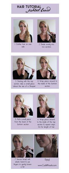 HAIR - Fishtail Braid Tutorial | tutorial in picture