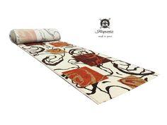 Imagen alfombra pasillo Iris 804 Beig. Fabricada en 100% lana