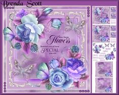 Roses and Butterlies on Craftsuprint - View Now! Happy Birthday Special Friend, Happy Mothers Day, Patent Office, Happy Wishes, Country Scenes, Matching Gifts, Get Well Soon, Pastel Floral, Blue Roses