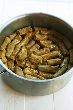 Dolmades - Stuffed Vine Leaves with Rice and Herbs - cookmegreek, authentic Greek recipes