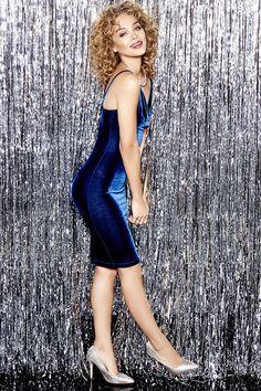 Jazzy Belle Blue Velvet Dress at Lulus.com!