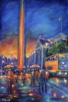 Stephen Shaw Art (album by Stephen Shaw) - South East Cultural Centre [SECC] Rainy Night, Irish Art, Cultural Center, Prints For Sale, Fine Art Paper, Dublin, Giclee Print, I Shop, Fine Art Prints