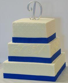 Image detail for -The Bakery Next Door: Blue & White Wedding Cake