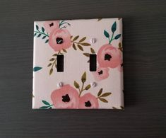 This contains: Blushing Pink Flowers Light Switch double size