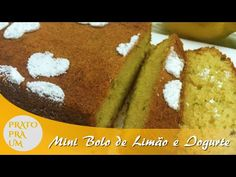 Prato Pra Um - Mini Bolo de Limão com Iogurte
