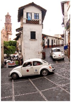 Taxco, Mexico - This is exactly what it's like. Those taxis have no idea what is around the corner.