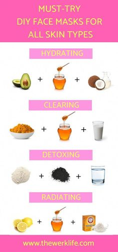 The best of DIY Beauty Hacks, these helpful tips will have your skin glowing and flawless in no time! Simple create these DIY face masks for acne, dry skin, and more, and watch the magic happen… Beauty Tips For Face, Natural Beauty Tips, Natural Hair Styles, Face Tips, Beauty Guide, Beauty Secrets, Organic Beauty, Beauty Care, Diy Beauty