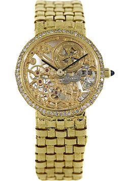 Certifed Pre-Owned Vacheron Constantin @Vacheron1755 18K Yellow Gold #Ladies Skeleton Manual