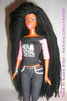 Dreadlock's Barbie designed by Karen Byrd. Natural Girls United  http://www.naturalgirlsunited.com