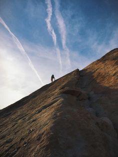 #climber #summer #adventure #sunset #mountain #desert #clouds #landscape