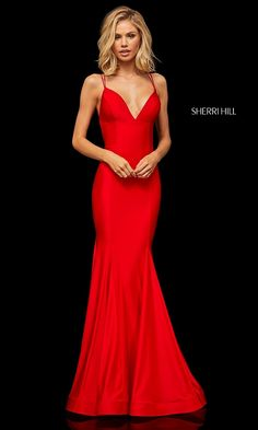 Sherri Hill - 52779 Crisscross Lace Up Fitted Sexy Dress Tight Prom Dresses, Gala Dresses, Plus Size Prom Dresses, Pageant Dresses, Evening Dresses, Dress Formal, Dressy Dresses, Club Dresses, Sherri Hill Red Dress