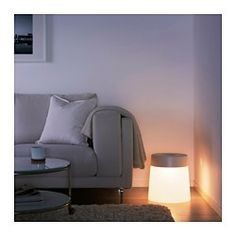 IKEA - IKEA PS 2014, LED stool lamp, in/outdoor, , 2 functions in one – lamp with cosy mood light and stool that you can sit on.You can create a cosy corner wherever you like, even outdoors, because the lamp is portable and runs on rechargeable batteries. No wall socket is needed.Convenient storage for the charger and cord right in the lamp, under the lamp lid.The LED light source consumes up to 85% less energy and lasts 20 times longer than incandescent bulbs.