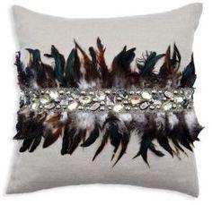 Callisto Home Feather Velvet Pillow #homedecor #decorativepillows #pillow #giftpillow #ad