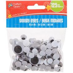 Crafter's Square Plastic Googly Eyes, 125-ct. Packs image