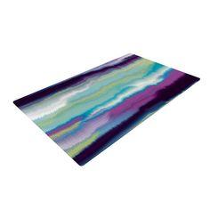 "Nina May ""Artika Blue"" Teal Purple Woven Area Rug from KESS InHouse"