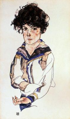 Egon SchieleART : EGON SCHIELE  (1890 - 1918) AUSTRIAN ARTIST / EXPRESSIONIST /エゴン・シーレ More Pins Like This At FOSTERGINGER @ Pinterest