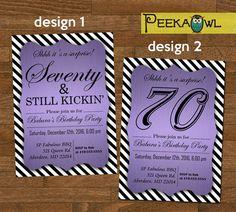 free printable 70th birthday invitations templates