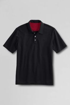 Men's Short Sleeve Active Pique Polo Shirt from Lands' End