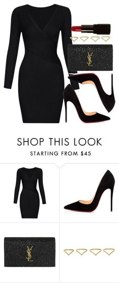 """Style #11443"" by vany-alvarado ❤ liked on Polyvore featuring Christian Louboutin, Yves Saint Laurent, Ana Khouri and Illamasqua #classyoutfits #womendressesclassy"