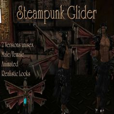 Steampunk Glider, Section 5 in Second Life made by me^^