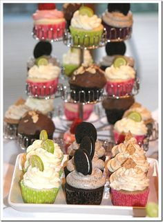 Tamara Jensen's cupcake tips.  The posts following give some favorite recipes:  key lime, oreo, blackberry vanilla, red velvet, s'mores, strawberry white chocolate, german chocolate, almond joy, raspberry lemonade. . .