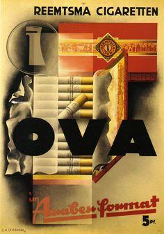 A.M. Cassandre #illustration #ova #cigarette