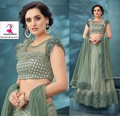 This fancy sea green lehenga is guaranteed to make you glow. The lehenga and choli both are made of Fancy net and fur. Addec with quality netting dupatta. The attire is enhanced with  cord, handwork, thread and sequin embroidery.  It can be stitched in all sizes small medium large and extra large. Minimum 28 inches to maximum 44 inches chest size. Green Lehenga, Lehenga Choli, Sequin Embroidery, Party Wear Lehenga, Cord, Glow, Two Piece Skirt Set, Sequins, Fancy