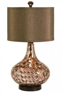 Amicable Antique Art Deco 3 Tier Waterfall Style Double Socket Copper Lamp Neither Too Hard Nor Too Soft Decorative Arts
