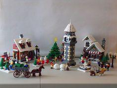 100_0046 | lisqr | Flickr Lego Christmas Train, Lego Christmas Village, Lego Winter Village, Lego Village, Christmas Villages, Lego Train Tracks, Lego Trains, Lego Mindstorms, Lego Technic