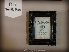 Vintage Gwen: DIY Family Sign Using PicMonkey