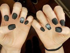 Ultimate Boho Style Black Nail Art Design