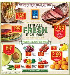Aldi Weekly Ad September 14 - 20, 2016 - http://www.olcatalog.com/grocery/aldi-ad.html