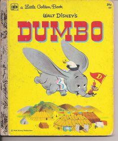 Vintage Little Golden Book Dumbo