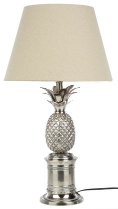 Silver Pineapple Table Lamp