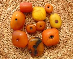 Rare Natural Antique African Amber Beads by lostcitiesbeads, $1108.00