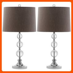 Safavieh Lighting Collection Keeva Crystal Ball 27-inch Table Lamp (Set of 2) - Improve your home (*Amazon Partner-Link)