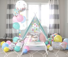 7th Birthday Party For Girls Themes, Sleepover Birthday Parties, Girl Sleepover, Birthday Fun, Party Themes, Slumber Party Decorations, Sleepover Invitations, Fun Sleepover Ideas, Teepee Party