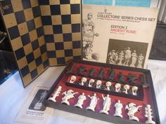1963 Ancient Rome CHESS SET No. 90 Board Game Classic Games Co. COMPLETE 1st ED. #CLASSICGAMES