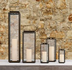 Amalfi Square Lanterns -Weathered Bronze