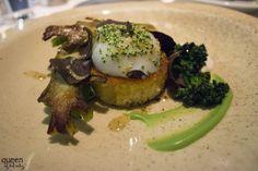 Slow cooked Cornucopia egg with broccoli, macadamia nuts and black truffle at Aria, Sydney