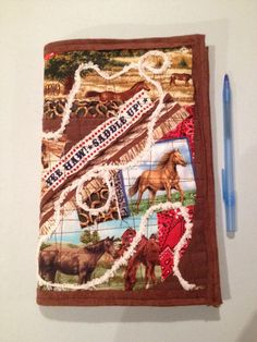 A personal favorite from my Etsy shop Yeehaw Horse Crazy Journal Cover. Fits any coil notebook (included) when your notebook is full remove and replace with a new one. Also great for your favorite book or bible cover. Bible Covers, Journal Covers, My Etsy Shop, Notebook, Horses, Quilts, Handmade Gifts, Vintage, Kid Craft Gifts