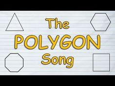 Kids will have a blast learning all about polygons with this fun and energetic tune. This polygon song for kids teaches all about the triangle, quadrilateral. 5th Grade Activities, Geometry Activities, Go Math, Math For Kids, Math Art, Third Grade Math, Grade 3, Second Grade, What Is A Polygon