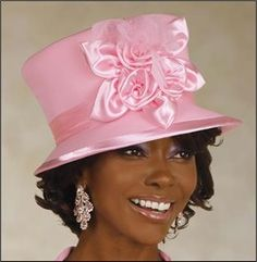 Pink Summer Formal Sunday Church Hat by Donna Vinc