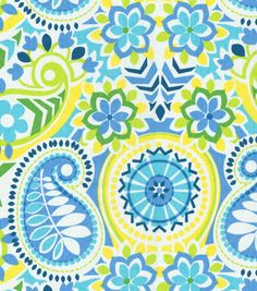 Baby. Crib sheet.  Waverly Baby by Trend Lab. Waverly Home Decor Print Fabric Paisley Prism Bluebell