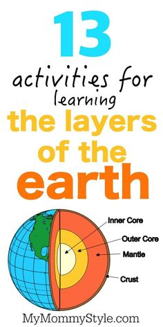 13 activities for learning the layers of the earth