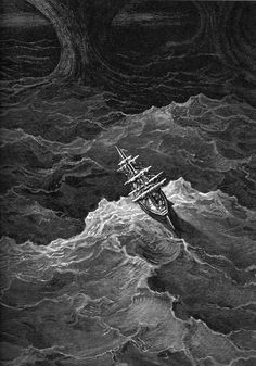 Gustave dore artwork drawings grayscale sea artwork, drawings, grayscale, sea) via www. Gustave Dore, Saint Dominique, Sea Illustration, Stormy Sea, Wood Engraving, Dark Art, Poster Size Prints, Marines, Fine Art Prints