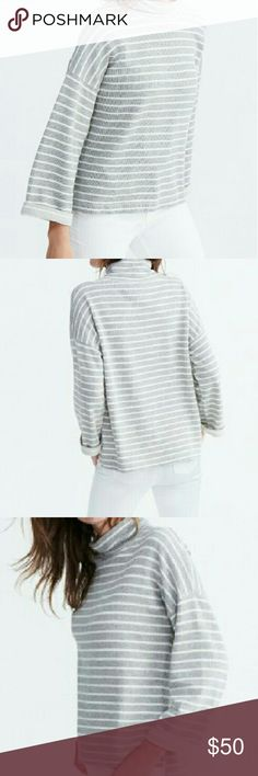 Nwt! Madewell Note Funnel Neck Pullover Brand new with tag! Madewell Note Funnel Neck Pullover   -100% Cotton -Boxy Fit -Ribbed Terry for Chilly Days -Funnel Neck  -this item is in season and currently selling at Madewell for retail price of $70. Madewell Tops
